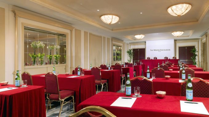 The Westin Excelsior Rome Meeting Boncompagni Classroom Setup