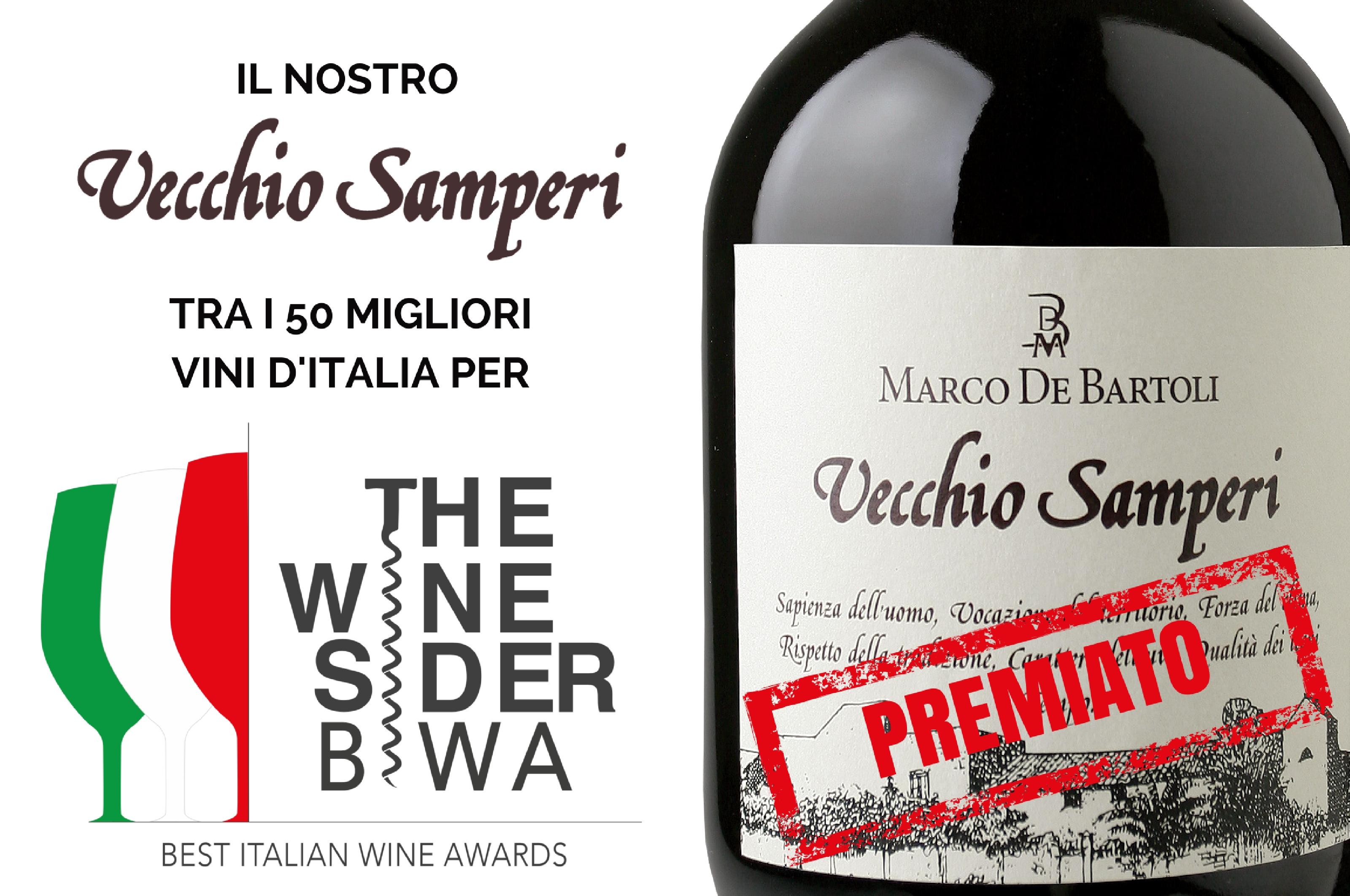 The Wine Sider Best Italian Wine Awards inserisce il Vecchio Samperi tra i 50 migliori vini d'Italia