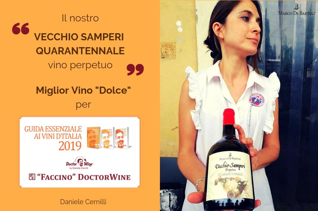 Il Vecchio Samperi Quarantennale è Miglior Vino Dolce per la Guida Essenziale di Doctor Wine