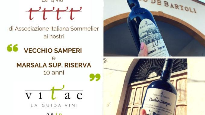 """Le """"4 Viti"""" Di AIS Al Vecchio Samperi E Al Marsala Superiore Riserva 10 Anni"""