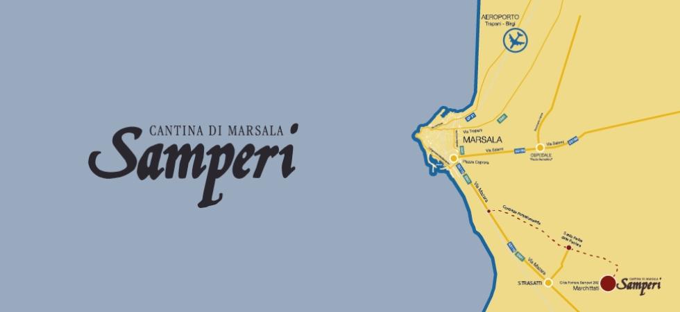 Come raggiungere la cantina di Samperi a Marsala
