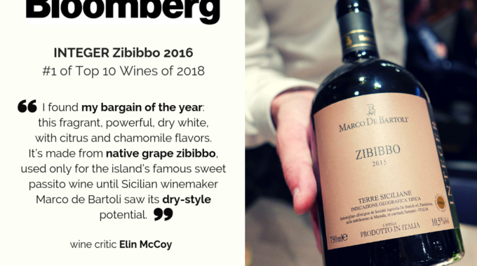 Zibibbo Integer 2016 Ranked #1 On Bloomberg Top 10 Wines Of 2018