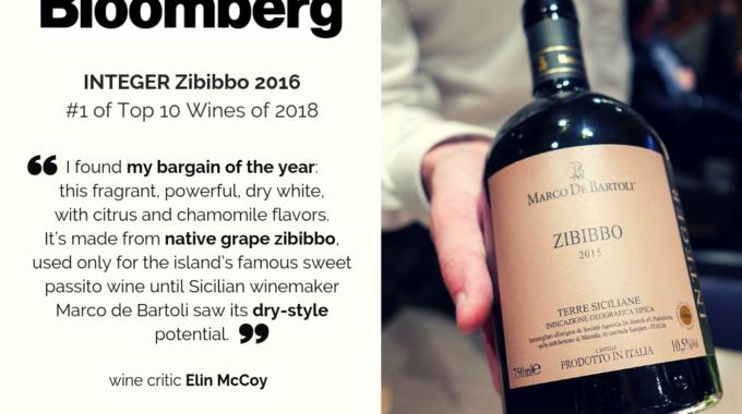 Zibibbo Integer 2016 Ranked #1 On Bloomberg's Top 10 Wines Of 2018